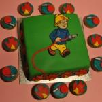 Brandweerman Sam taart & cupcakes