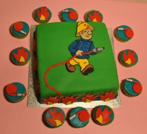 Brandweerman Samcupcakes