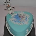 Elsa-taart met Olaf