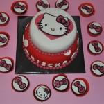 Hello Kitty met een hoop strikjes